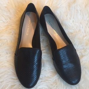 Franco Sarto Zahara black leather loafers size 9.5